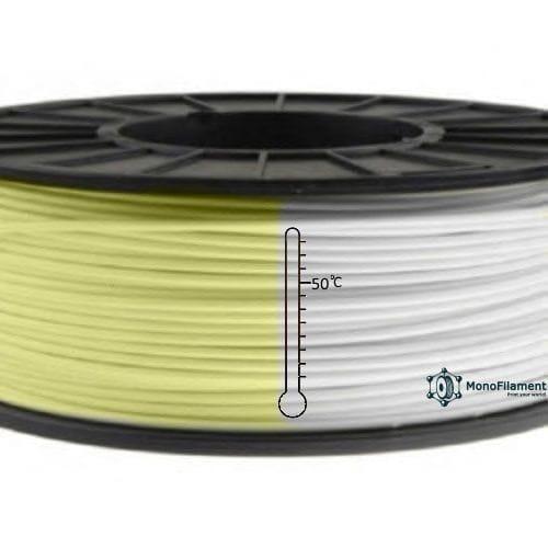 PLA пластик жовтий термохромний пластик (MonoFilament)