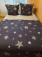 Качественный набор постельного белья принт Звезды