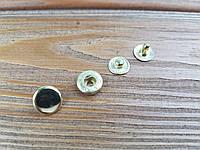 Кнопка металлическая Альфа 12,5мм. Турция цвет золото (50 шт в упаковке)