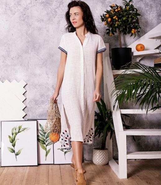 Платье рубашка с вышивкой Batiche 120