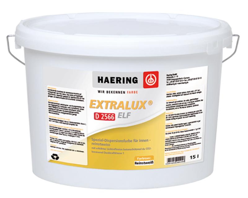 Краска светоотражающая HAERING EXTRALUX ELF D2566 интерьерная белая - база 1 15л