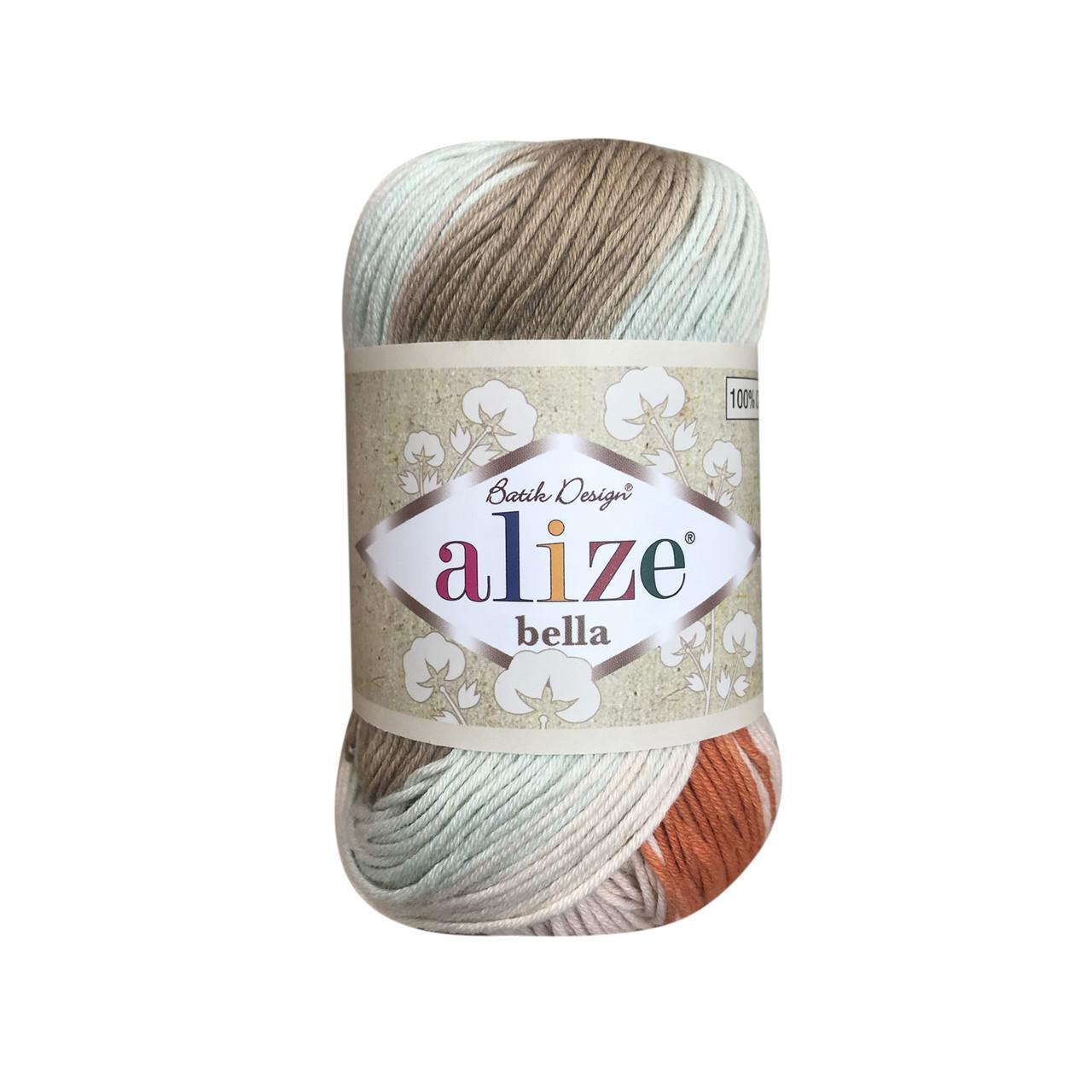 Пряжа хлопковая Alize Bella Batik 7103