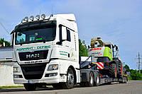 Услуги Трала | Негабаритные перевозки: комбайна, трактора, спецтехники | Низкорамная платформа | Трал Полтава