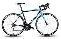Велосипед 28'' PRIDE ROCKET рама - 56 см черно-синий матовый 2015