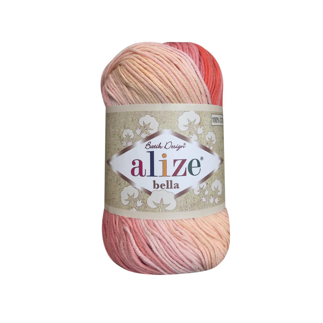 Пряжа хлопковая Alize Bella Batik 7104