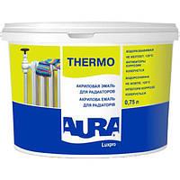Акриловая эмаль для радиаторов Aura Luxpro Thermo (белая), 2.5 л