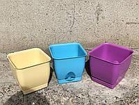 Горшок для цветов квадратный 160х160 2,7л
