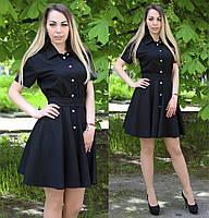 Женское платье рубашка до середины бедра