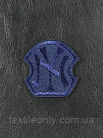 Нашивка New York колір темно синій 40x40 мм