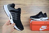 Мужские кроссовки летние черные с белым Nike Air Presto ТОП реплика, фото 1