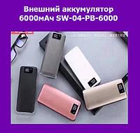 Внешний аккумулятор 6000мАч SW-04-PB-6000