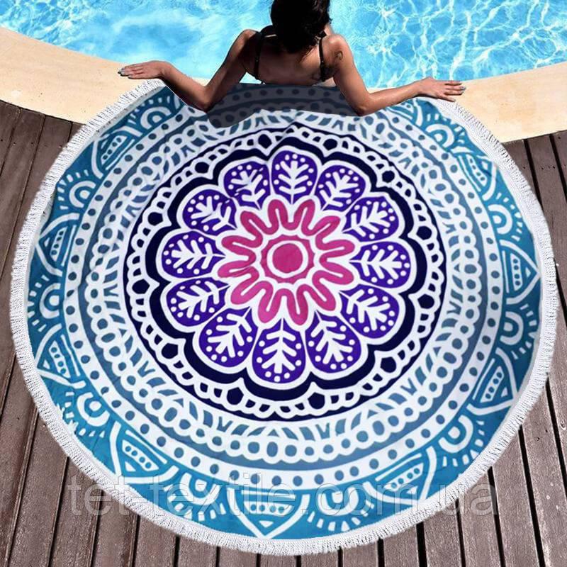 Круглое пляжное полотенце Орнамент (150 см.)