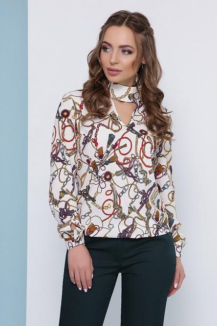 Блуза Кэти молочный (42-50)