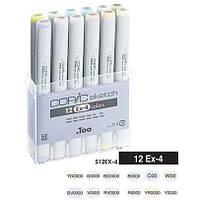 Набор маркеров Copic Sketch EX-4 12 шт/уп (21075412)