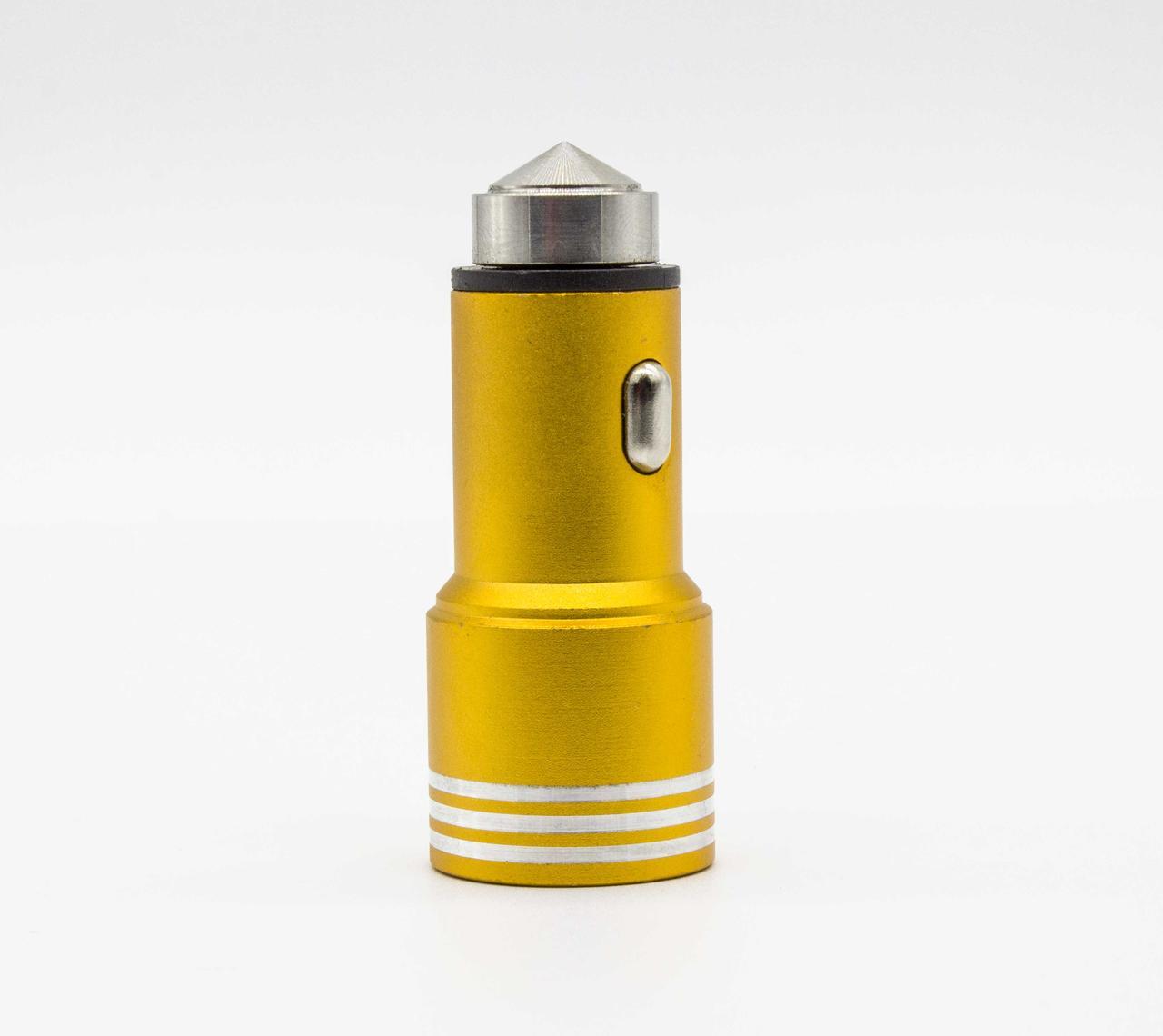 Зарядка автомобильная 12V 2 USB Железный стеклобой