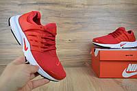 Мужские кроссовки летние красные Nike Air Presto ТОП реплика, фото 1
