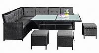Комплект садовой мебели плетеной из ротанга ARPAD (черный)