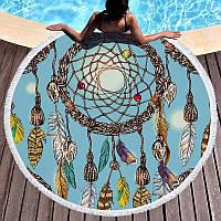 Круглое пляжное полотенце Ловец снов (150 см.)