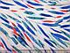 Штапель яркая листва, синий на белом, фото 2