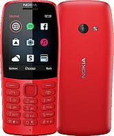 Мобильный телефон Nokia 210 Dual Sim Red, 2.4 (320х240) TN / клавиатурный моноблок / Mediatek MT6260A / ОЗУ 4 МБ / 16 МБ встроенной памяти + microSD