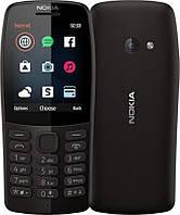 Мобильный телефон Nokia 210 Dual Sim Black, 2.4 (320х240) TN / клавиатурный моноблок / Mediatek MT6260A / ОЗУ 4 МБ / 16 МБ встроенной памяти + microSD