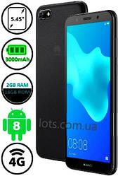 Смартфон Huawei Y5 2018 Black 2/16Gb 4G (Оригинал)+защитное стекло в подарок