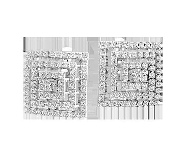 Серьги серебряные Неаполь 41319