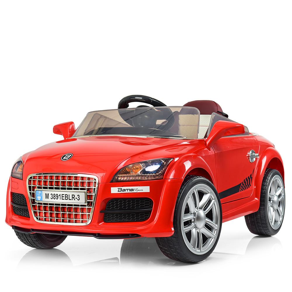 Электромобиль детский Audi M 3891EBLR-3 красный Гарантия качества Быстрая доставка