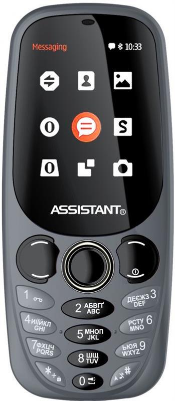 Мобильный телефон Assistant AS-201 Dual Sim Gray, 2.4 (320х240) TN / клавиатурный моноблок / Spreadtrum SC6533