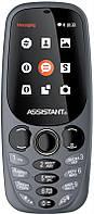 Мобильный телефон Assistant AS-201 Dual Sim Gray, 2.4 (320х240) TN / клавиатурный моноблок / Spreadtrum SC6533 / ОЗУ 64 МБ / 64 МБ встроенной +