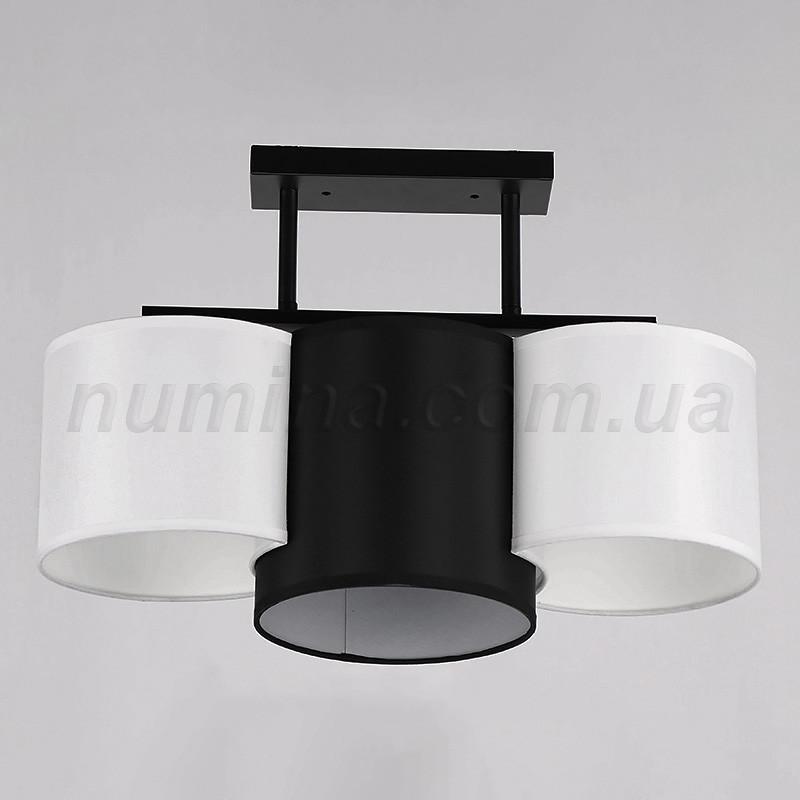Люстра потолочная на 3 лампы 29-K048/3 BK+WT+BK