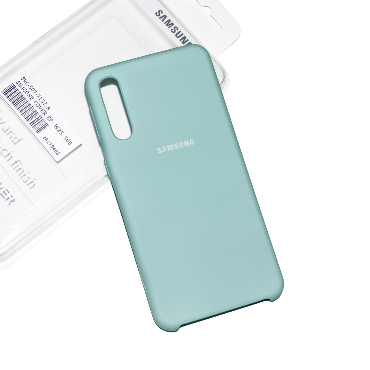 Силиконовый чехол на Samsung A50 (A505) Soft-touch Mint