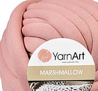 Толстая пряжа шнур трикотажная YarnArt Marshmallow 906 пудра (Ярнарт Маршмеллоу)