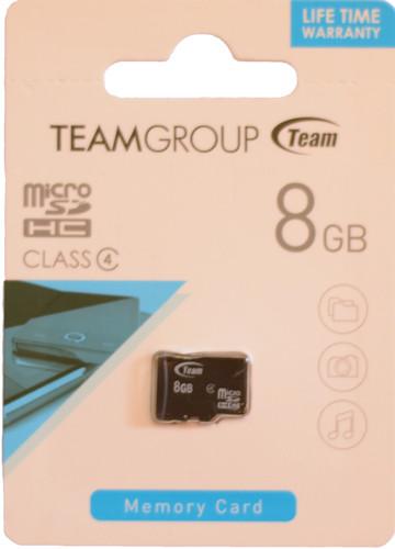 Team micro SDHC Class 4 8GB без адаптера (TUSDH8GCL402)