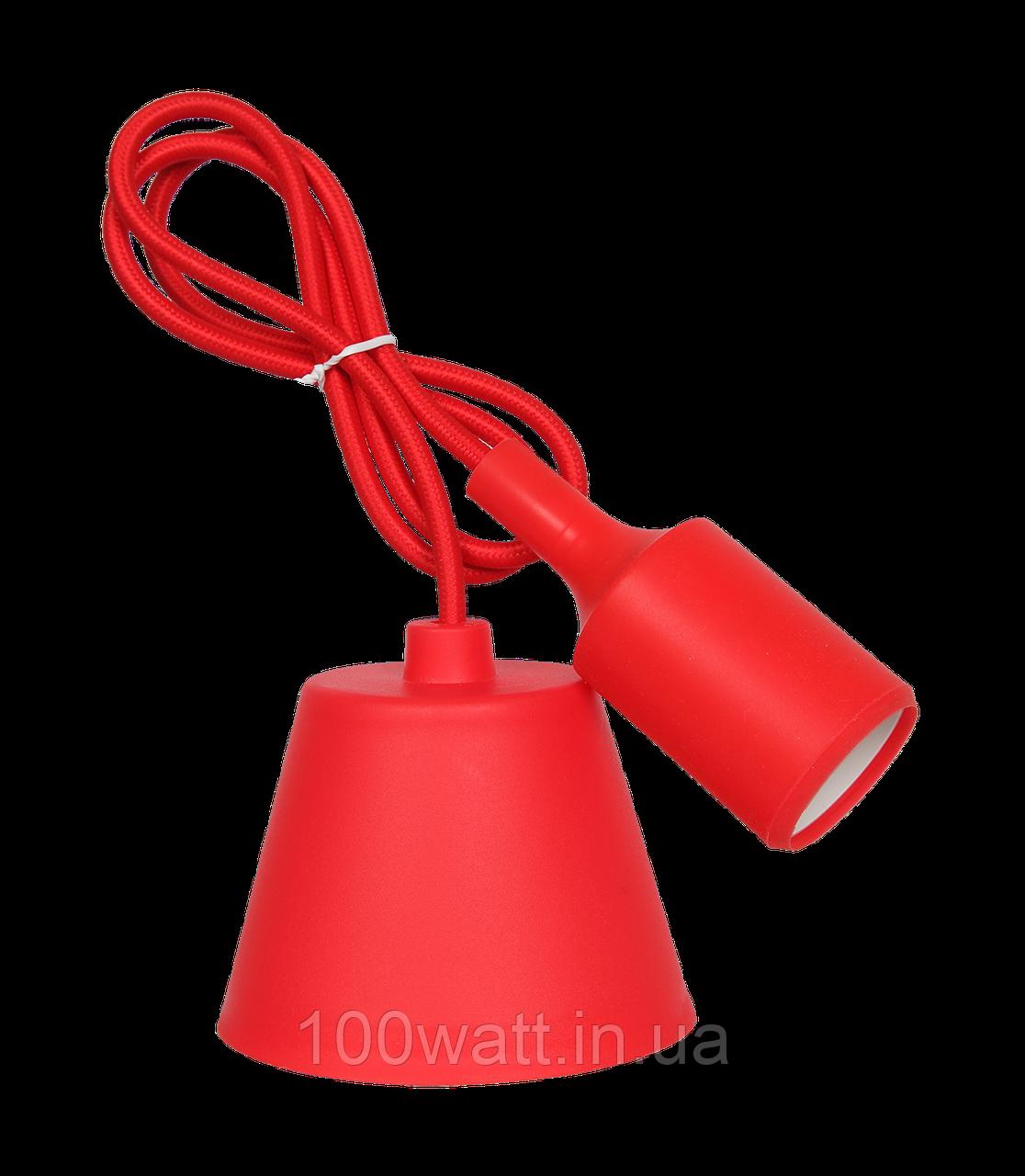 Патрон подвесной Е27 1м красный (WT255) ST 542-2