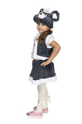 """Детский карнавальный меховой костюм """"Мышка"""" для девочки, фото 2"""