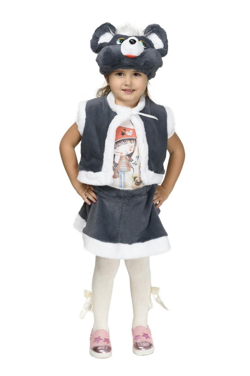 """Детский карнавальный меховой костюм """"Мышка"""" для девочки"""