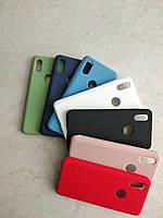 Original Silicone Case для Xiaomi Mi A2. Силиконовый чехол с микрофиброй для сяоми ми а2