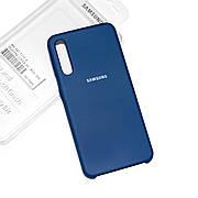 Силиконовый чехол на Samsung A70 (A705) Soft-touch Denim