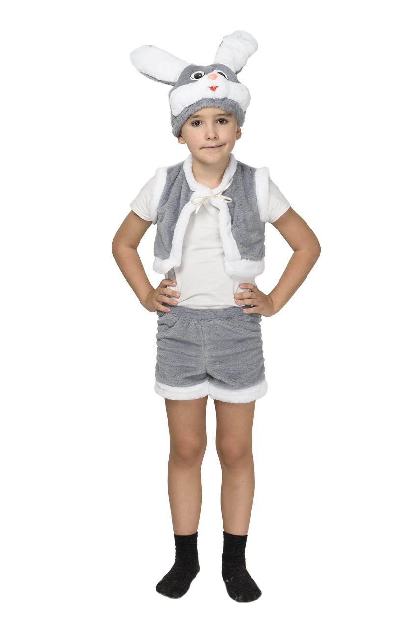 """Детский карнавальный меховой костюм """"Зайчик"""" для мальчика"""
