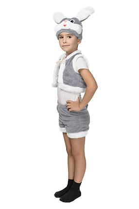 """Детский карнавальный меховой костюм """"Зайчик"""" для мальчика, фото 2"""