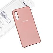 Силиконовый чехол на Samsung A70 (A705) Soft-touch Pink