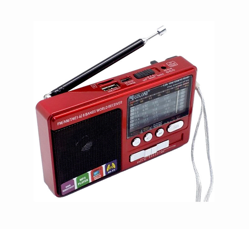 ✅ Радиоприемник портативный fm с usb флешкой и аккумулятором Golon RX-181 красный фм с mp3 плеером   🎁%🚚