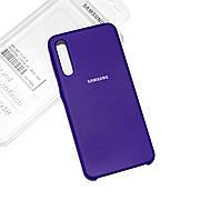 Силиконовый чехол на Samsung A70 (A705) Soft-touch Violet