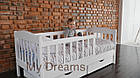 Подростковая детская кровать Ассоль с бортиком белая, фото 6