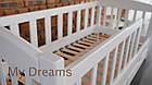 Подростковая кровать Ассоль с бортиком 70*160 ваниль, фото 9