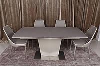 Стол обеденный Michigan Стеклокерамика Мокко/Пудра (Nicolas TM)