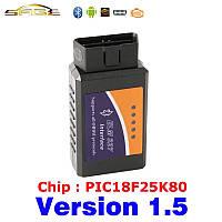 Беспроводной диагностический сканер V1.5 чип PIC18F25K80  для авто  ELM 327 OBD2 / OBDII ELM327, фото 1