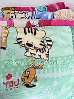 Детский плед - одеяло цвет и рисунок в ассортименте 1м/1м