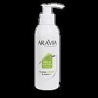 Молочко для лица «aravia professional» с огуречным экстрактом и витамином е 150 мл.